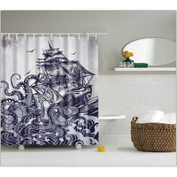 Shower Curtains Owl Print Bath Products Decor With Hooks In 6 Designs 0466 / 150*180Cm Shower Curtain