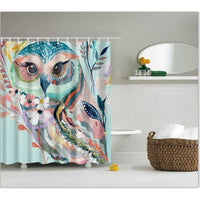 Shower Curtains Owl Print Bath Products Decor With Hooks In 6 Designs 0471 / 150*180Cm Shower Curtain