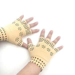 Therapy Magnetic Fingerless Gloves Arthritis Pain Relief Heal Joints Braces Supports Health Care Magnetic Gloves