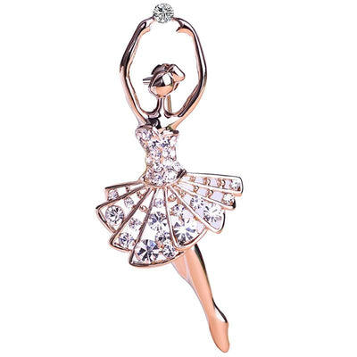 Unisex Ballet Dancer Ballerinas Brooches In 2 Colors Brooch