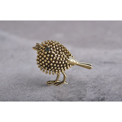 Unisex Cartoon Antique Gold Color Animal Vintage Bird Brooch In 2 Colors Brooch