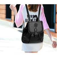 Woman Backpack Litchi Pattern Pu Leather Vintage Casual In 4 Colors Women Backpack
