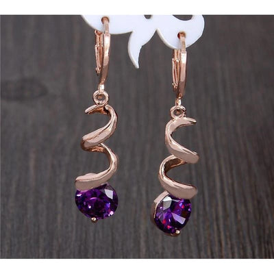Woman Earrings Extraordinary Design Cubic Zirconia Hoop In 8 Colors Earrings