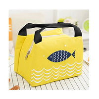 Wome Lunch Bag Insulated Canvas Cooler Thermal Bag 4 Colors Yellow Lunch Bag