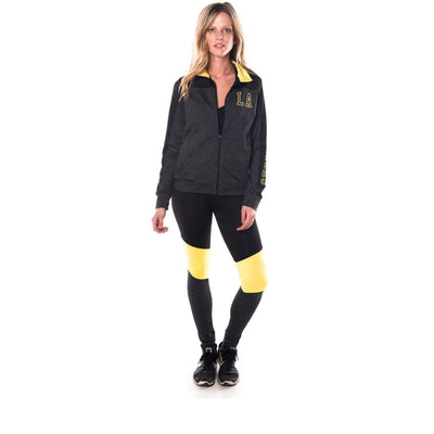 Women Active Sport 2 Pc Set Zip Up Jacket & Leggings Outfit Activewear
