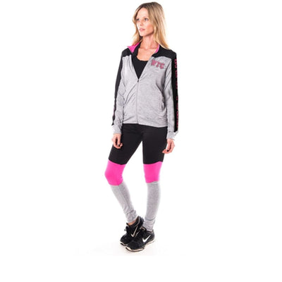 Women Active Sport Yoga / Zumba 2 Pc Set Zip Up Jacket & Leggings Outfit Activewear