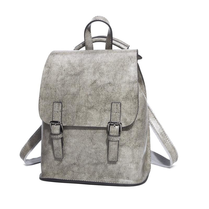 Women Backpack Genuine Leather College School Backpack In 4 Colors Grey / 24X25X11Cm Women Backpack