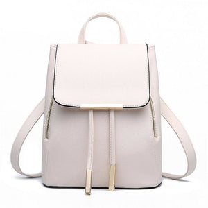 Women Backpack High Quality Pu Leather For Teens And Girls In 8 Colors Beige / 28X24X14Cm Women Backpack
