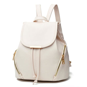 Women Backpack High Quality Pu Leather In 5 Colors White / 28X29X16Cm Women Backpack