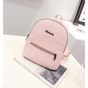 Women Backpack Leather Leisure Travel Bag Or School 5 Colors Pink Women Backpack