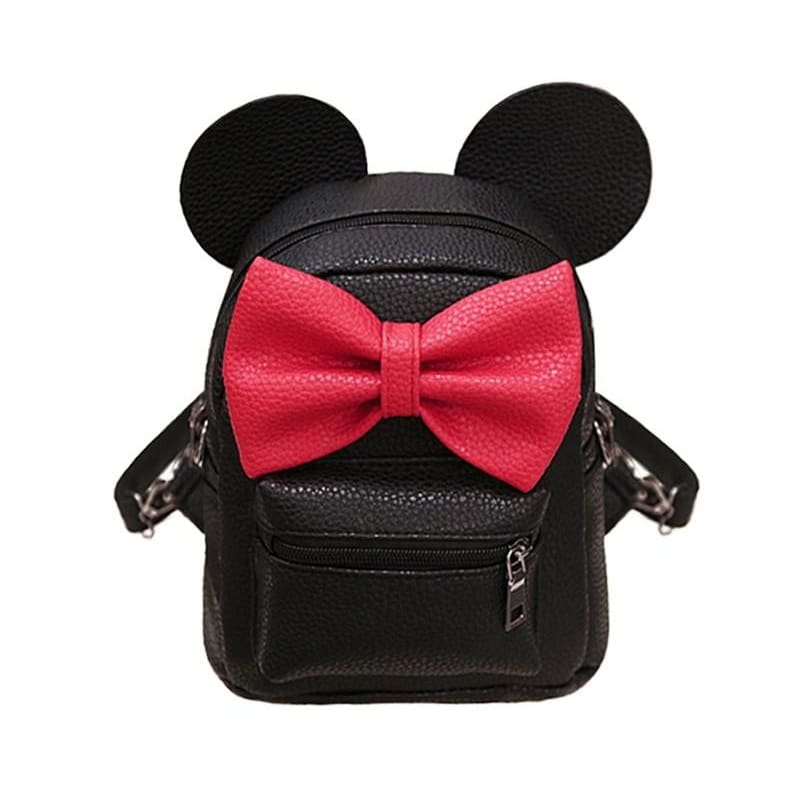 Women Backpack Mouse Shape Pu Leather Teen Backpack 2 Colors Cross Body Bag