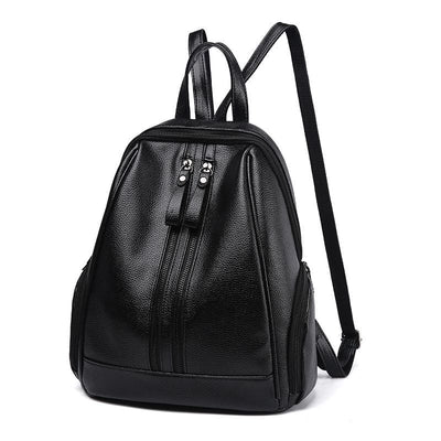 Women Backpack Pu Leather For Adolescent Or Girls In 5 Great Colors Black / 30X32X15Cm Women Backpack