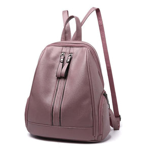 Women Backpack Pu Leather For Adolescent Or Girls In 5 Great Colors Pink / 30X32X15Cm Women Backpack