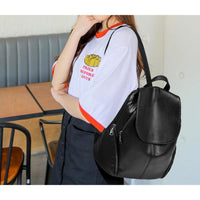 Women Backpack Pu Leather Vintage Large Capacity 2 Colors Women Backpack
