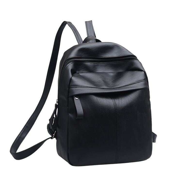 Women Backpack Solid Large Capacity High Quality Pu Leather Backpack Black Women Backpack
