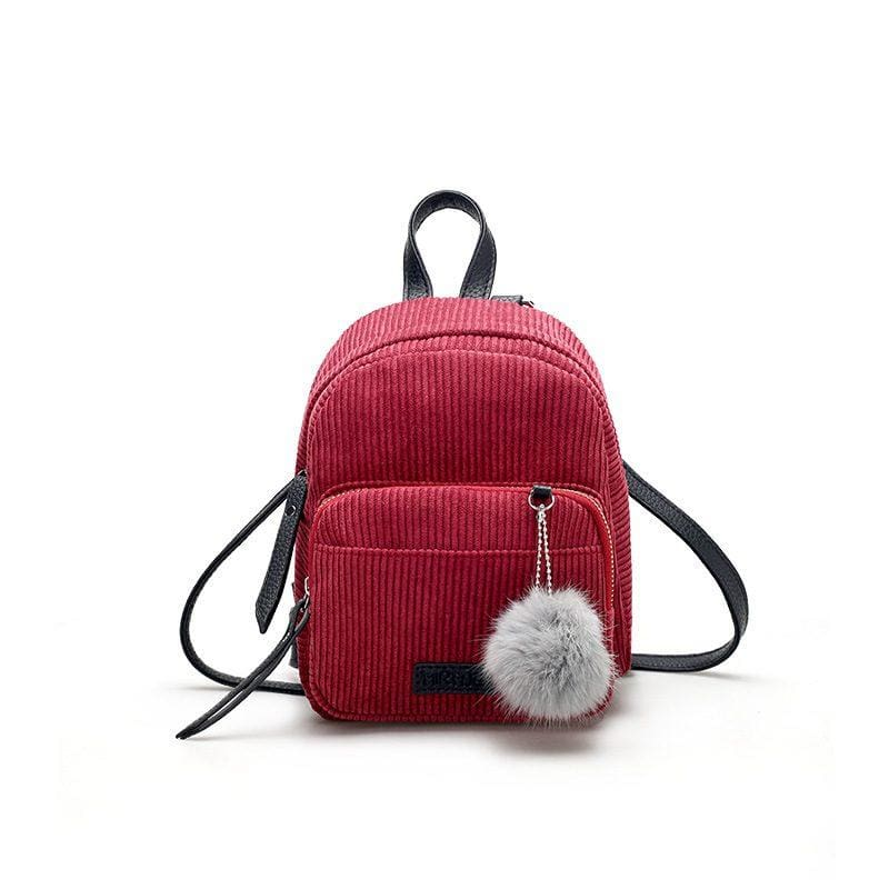 Women Backpack Solid School Bag For Teens Girls 3 Colors Burgundy Women Backpack
