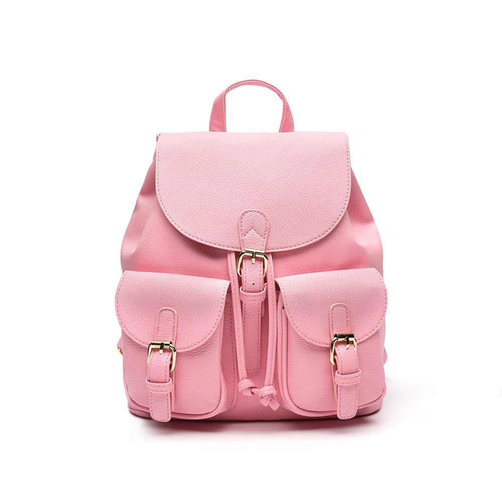 Women Backpack Vintage Leather For Teens And Girls 4 Colors Pink / 30X26X13Cm Women Backpack