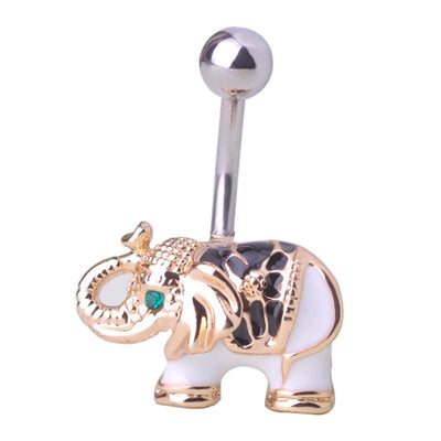 Women Belly Button Elephant Rings In 2 Colors Belly Ring