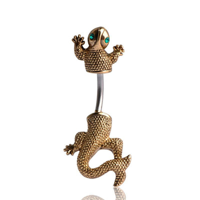 Women Belly Button Fine Vintage Lizard Ring Belly Ring
