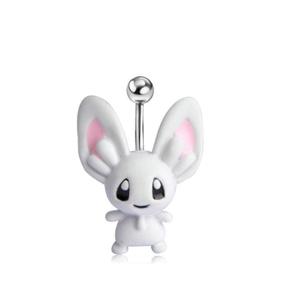 Women Belly Button Rabbit Shape Ring Belly Ring