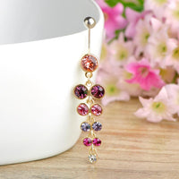 Women Belly Button Ring Exquisite Long Pendant In 3 Colors. Belly Ring