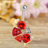 Women Belly Button Ring Steel Sexy Violet Flower Body Belly Ring