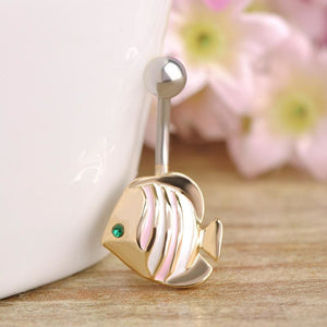 Women Belly Button Sea Fish Ring Fish Belly Ring