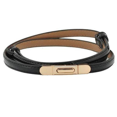 Women Belt Cow Genuine Leather Elegant Elastic Waistband 7 Colors Belt