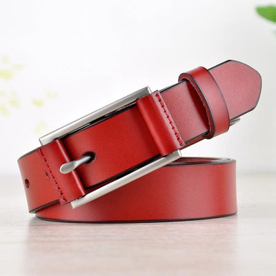 Women Belt Genuine Leather Automatic Silver Reversible Waistband 5 Colors Belt