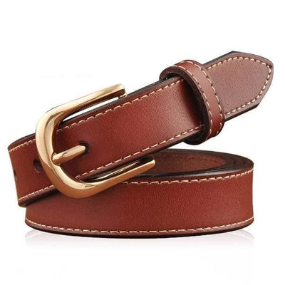 Women Belt Genuine Leather Elastic Buckle Waistband 6 Colors Belt