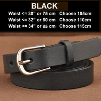 Women Belt Genuine Leather Elastic Buckle Waistband Luxury 4 Colors Black / 105Cm Belt