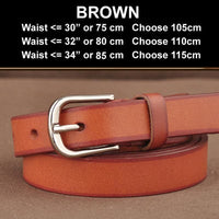 Women Belt Genuine Leather Elastic Buckle Waistband Luxury 4 Colors Brown / 105Cm Belt