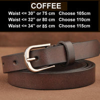Women Belt Genuine Leather Elastic Buckle Waistband Luxury 4 Colors Coffee / 105Cm Belt