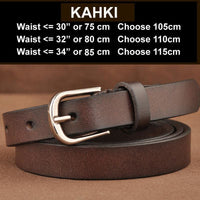 Women Belt Genuine Leather Elastic Buckle Waistband Luxury 4 Colors Khaki / 105Cm Belt
