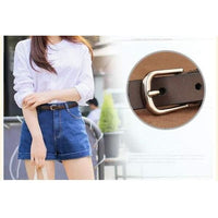 Women Belt Genuine Leather Elastic Buckle Waistband Luxury 4 Colors Belt