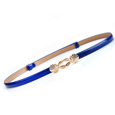 Women Belt Genuine Leather For Dress Or Skirts Luxury Style 6 Colors Blue Belt