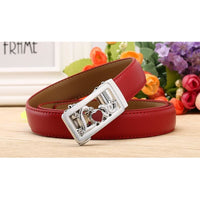 Women Belt Genuine Leather High Quality Reversible Buckle 6 Colors Belt