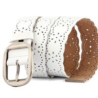 Women Belt Genuine Leather Stretch Buckles 5 Colors Belt