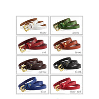 Women Belt Metal Alloy Genuine Leather Stretch Casual Waist Band 8 Colors Belt