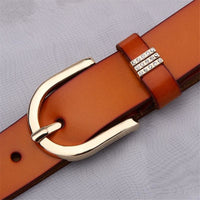 Women Belt Vintage Alloy Genuine Leather Embossed Waistband 6 Colors Belt