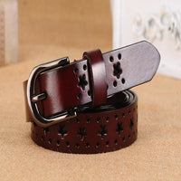 Women Belt With Genuine Leather Top Quality In 5 Rich Colors Coffee / 100Cm Belt