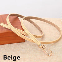 Women Belts 100% Genuine Leather Metal Pin Buckle Vintage Belts In 9 Colors Beige / 105Cm Belt
