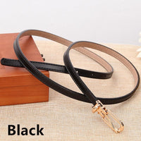 Women Belts 100% Genuine Leather Metal Pin Buckle Vintage Belts In 9 Colors Black / 105Cm Belt