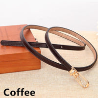 Women Belts 100% Genuine Leather Metal Pin Buckle Vintage Belts In 9 Colors Coffee / 105Cm Belt