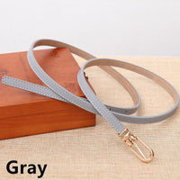 Women Belts 100% Genuine Leather Metal Pin Buckle Vintage Belts In 9 Colors Gray / 105Cm Belt