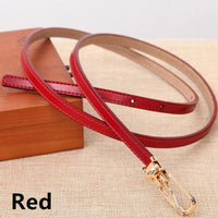 Women Belts 100% Genuine Leather Metal Pin Buckle Vintage Belts In 9 Colors Red / 105Cm Belt