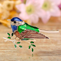 Women Bird Brooch Gold-Color Crystal Accessories In 2 Colors Brooch