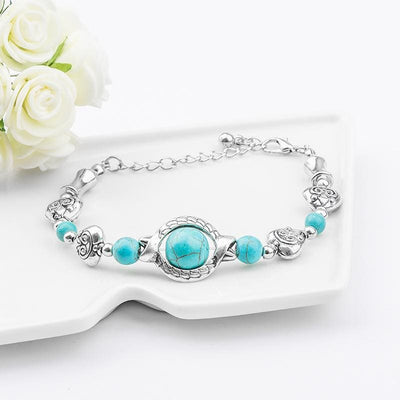 Women Bracelet Bohemia Shape Natural Stone Beads Bracelet