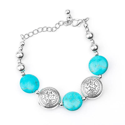 Women Bracelet Classic Bohemia Stylish Shiny Natural Stone Beads Design Bracelet