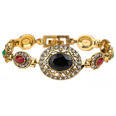 Women Bracelet Ellipse Multicolor With Austrian Crystals Bracelet Bracelet